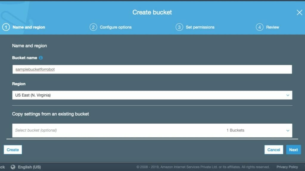 Create S3 Bucket For Robots.txt File on AWS CloudFront Domain Name